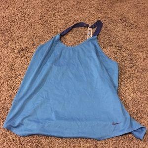 Blue Nike Tank Top